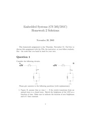 Homework B Solutions on Embedded Systems
