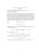 Statistical Mechanics and RationingClass Notes week4