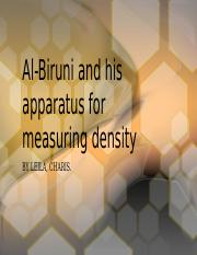 Al-Biruni and his apparatus for measuring density.pptx