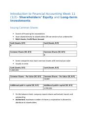 COMM_111_Shareholders_Equity_Long_term_Investments_Week_11.docx