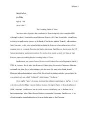 english Sam Houston Research Paper