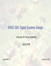 Ensc252 1 Introduction Pdf Ensc 252 Fundamentals Of Digital Logic And Design Slide Set 1 Introduction Peter Hallschmid Phd Peng About Me Phd Ubc In Course Hero