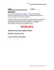 LAB 3 - Lunar phases worksheet word doc