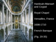 French Baroque - Versailles Royal Chapel