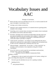 AAC vocab issues