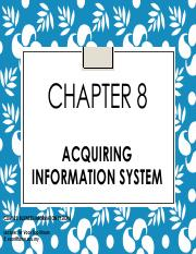 Chp8_Acquiring Information System