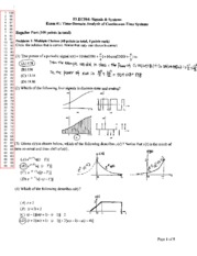 ELEC584_Signals&Systems_Signals Exam 1 Solutions