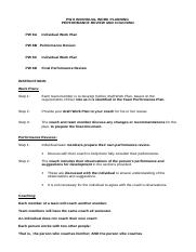 PW 8 ( b) Individual Work and Review Plans (Templates) Sem 1 2014