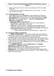 Chapter 13 Corporate-Financing decisions and efficient capit