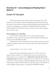 CHEM 27 Spring 2015 Lecture Background Reading Notes - Week 12 - Lecture 19 and Lecture 20