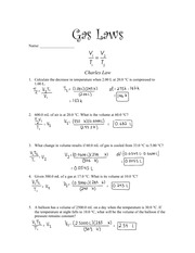Gas Laws Assignment