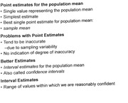 Estimating from Population Mean