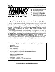 MMWR Ten Great Achievements_Short HARLEY.pdf