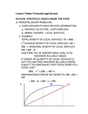 Lecture 7 Notes Firms and Legal Services
