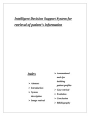 Intelligent Decision Support System for retrieval of patient's information