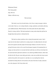 Rflection Essay.1
