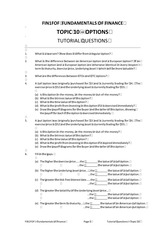 FOF Topic 10 Tutorial Questions