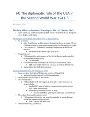 (4) The diplomatic role of the USA in the Second World War 1941-5