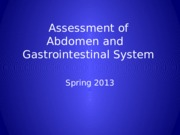 Assessment ABD and GI system