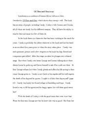Of Mice and Men Essay - Of Mice and Men essay Loneliness is a ...