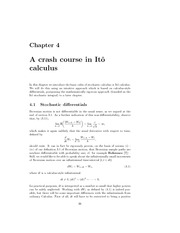 lecture 3  on Mathematichal Methods for financial Engineering