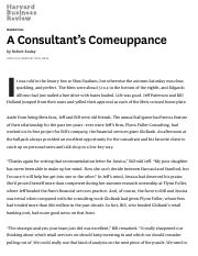A Consultant's Comeuppance