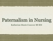 paternalism in nursing Slides