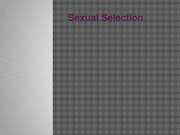 chapter9 - sexual selection