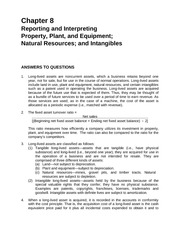 Chapter 8 Reporting and Interprenting Property, Plant, and Equipment