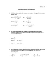 Sample problems for midterm 1