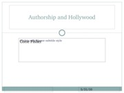 Authorship and hollywood