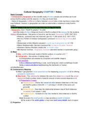 CulturalGeographyCH.1Notes