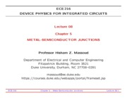 ECE216-Lecture-08-Metal-Semiconductor-Junctions
