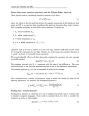 Wigner-Eckart Theorem Notes