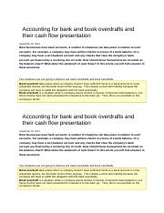 Accounting for bank and book overdrafts and their cash flow presentation.docx