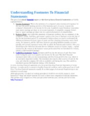 Understanding Footnotes To Financial Statements