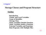 Ch. 7 Storage Slass and Program Structure