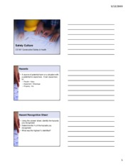 Intro to Safety Culture Handouts