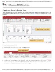 13 - Creating a Query in Design View