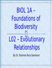 L02 - Phylogeny and Origin of life - SBS 08-24-14.pptx