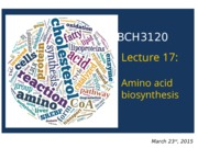 2015 - BCH3120 - Lecture 17 - S