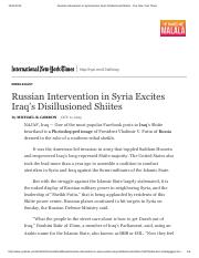 Russian Intervention in Syria Excites Iraq's Disillusioned Shiites - The New York Times.pdf