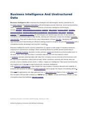 Business Intelligence And Unstructured Data.docx