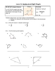 Geometry Notes Trig Worksheet Homework
