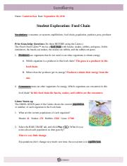 FoodChainTG - Teacher Guide Food Chain Learning Objectives ...
