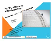 Proposals and Propositions