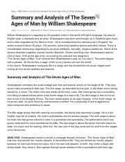 seven ages of man analysis
