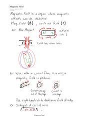 PHYS 11 Magnetic Field Notes