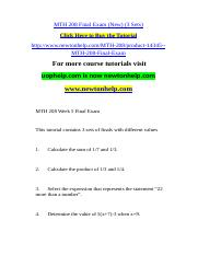 MTH 208 Final Exam (New) (3 Sets).doc