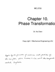 ME2733 Class notes Chapter 10. Phase Transformation